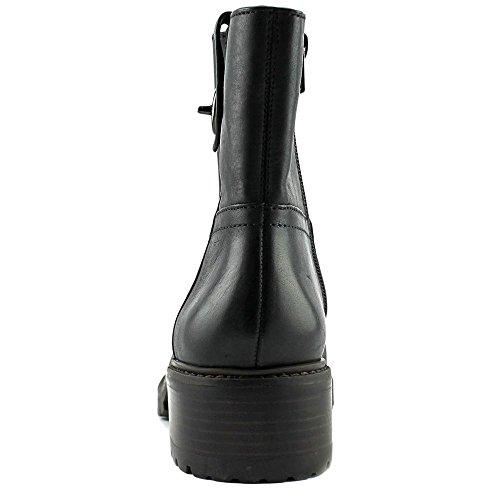 Coach Mujeres Georgetta Leather Round Toe Botines Moda Negro