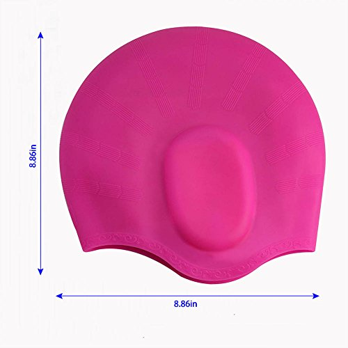 Swim Cap Silicone Organic-Anti-Allergy -Aigh Elasticity Swim Cap -Durable,Does Not Pull Hair,Suitable for Long Short Hair Lady,Men and Children.