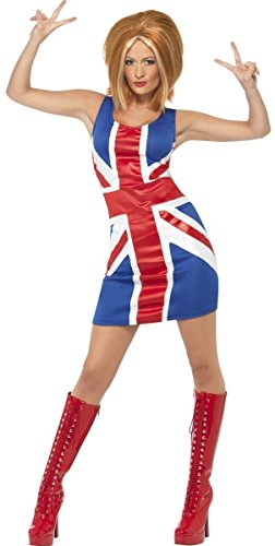 (Ladies Sexy Posh Ginger Baby Scary Sporty Spice Girls 1990s Celebrity Hen Do Halloween Fancy Dress Costume Outfit UK 8-18 (UK 8-10,)