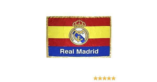 FUTBOL Bandera del Real Madrid España: Amazon.es: Deportes y aire ...