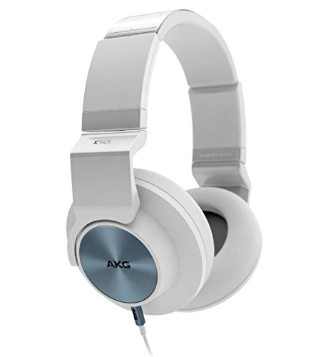 AKG K545 WHT Studio-Quality, Closed-Back, Over the Ear Headphones (White) by AKG