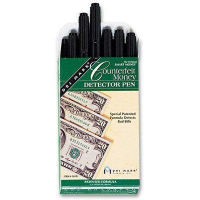Smart Money Counterfeit Bill Detector Pen for Use w/U.S. Currency, Dozen, Sold as 12 Each