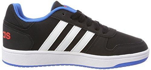 adidas Unisex-Kinder Vs Hoops 2.0 K Gymnastikschuhe Mehrfarbig (Core Black/ftwr White/bright Blue)