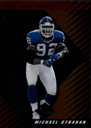 (2000 Leaf Limited Football Card #8 Michael Strahan)