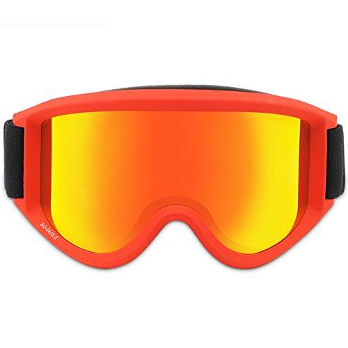 SE7VEN Masques De Ski Lentille Double Couche Lunettes D équitation  Motoneige Coupe-vent Lunettes a0249175c479