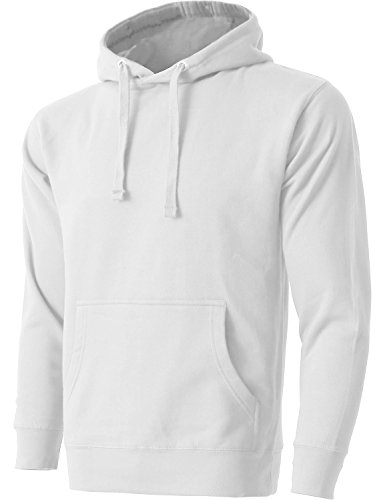 Plain White Sweatshirt (Hat and Beyond HC Mens Pullover Hoodie Sweatshirts (Large/hc09_White))