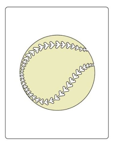 Faux Like a Pro Baseball Stencil, 5.5 by 7-Inch, Single Overlay