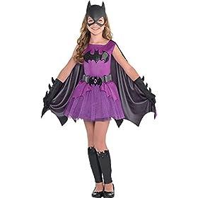 Suit Yourself Purple Batgirl Halloween Costume for Girls, Batman, Includes Accessories