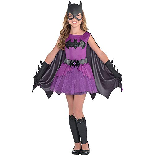 Suit Yourself Purple Batgirl Halloween Costume for Girls, Batman, Small, Includes Accessories
