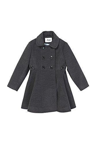de la crème - Niña Bonito Invierno Artificial Lana Plisado Con Vuelo Doble Botonadura de abrigo abrigo (Edad 2-12 Años): Amazon.es: Ropa y accesorios