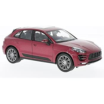 Porsche Macan Turbo, metallic-red, 0, Model Car, Ready-made, Welly 1:24