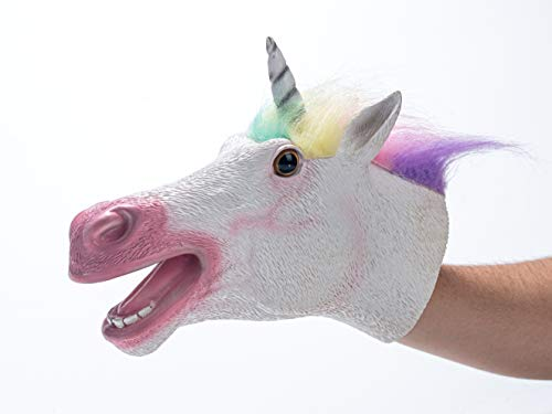 Yolococa Hand Puppet Toys,Soft Rubber Realistic Unicorn Head (Hand Puppet Toy)