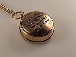 Not All Those Who Wander Are Lost Lidded Working Compass, Compass, Compass, J. R. R. Tolkien, Inspired the Lord of the Rings, Travel Gift