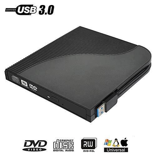 Fasmodel - Universal USB 3.0 External DVD RW Portable CD Writer Optical Drive for Computer Tablet PC from Fasmodel