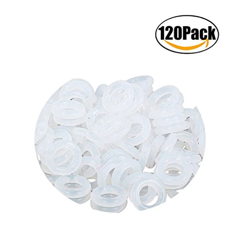 ThreeBulls 120Pcs Rubber O-Ring Switch Dampeners Keycap white For Cherry MX Key Switch Keyboards Dampers