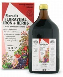 Floravital Iron & Herbs Yeast Free Flora Inc 17 oz Liquid by - Liquid Ounce 17