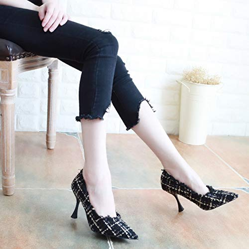 Autumn In Gules Heads 8Cm Nine Shoes Shallow Thirty Pointy Thin Women'S Fashion Shoes Heels KPHY High Heels Colors Thin pwdqpH