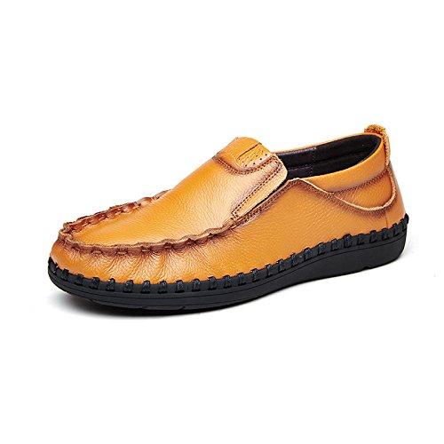 voiture la Yellow haute Patins Chaussures Casual qualité Chaussures L'Homme conduisant classique brown de Casual ZFwqx1Z