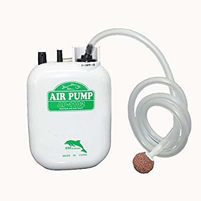 Posa 3 Watt Fish Air Pump 2 Speed Air Supply for Aquariums Outdoor Fit for Fish Tanks from 10 to 30 Gallons