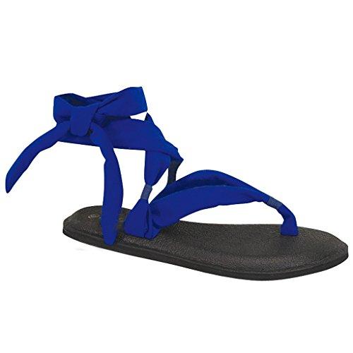 Donna Yoga Flip Flop Fionda Gladiatore Slingback Perizoma Piatto Sandalo Blu-a
