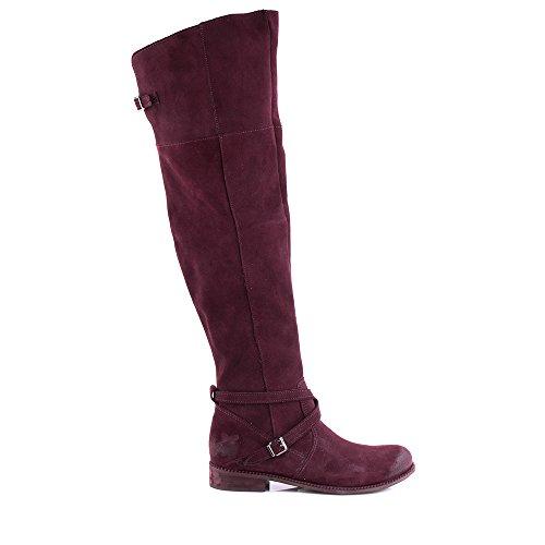 Felmini - Zapatos para Mujer - Enamorarse com Bertha 9925 - Botas Altas con cremallera - Cuero Genuino - Bordeaux Bordeaux