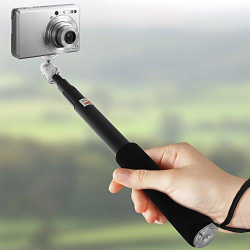 S6800 iGadgitz Black Extendable Telescopic Handheld Self Portrait Selfie Monopod Stick for Nikon COOLPIX S2800 S3600 S6700 S2900 S7000 Digital Cameras S5300 S6900 S3700