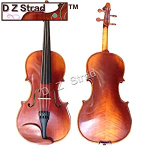 D Z Strad Model 365 Violin 4/4 Full Size with Open Clear Tone with Dominant Strings, Case, Bow, Rosin and Shoulder Rest 41spctwUZuL