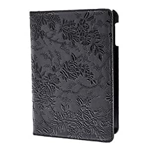 Buy Rotatable Flower Pattern PU Leather Case with Stand for iPad mini , Pink