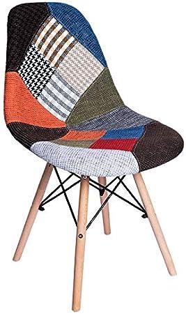 Regalos Miguel - Sillas Comedor - Silla Tower Patchwork - Patchwork Colores - Envío Desde España: Amazon.es: Hogar