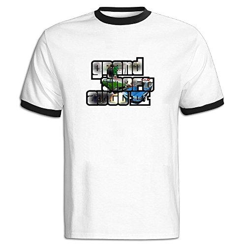 Men's Black Blank Grand Theft Auto GTA-3 Logo T Shirt US Size XXL (Gta 3 Shirt)