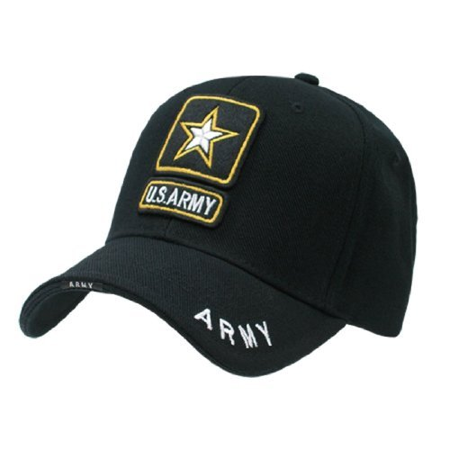 Logo Military Hat (Rapid Dom US Military Legend Branch Logo Rich Embroidered Baseball Caps S001 Army Star)