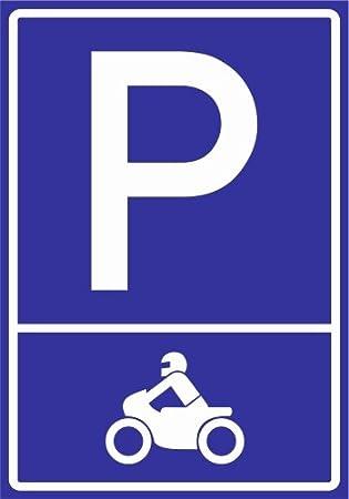 Kiwistar Panneau pour place de parking Moto (pictogramme)