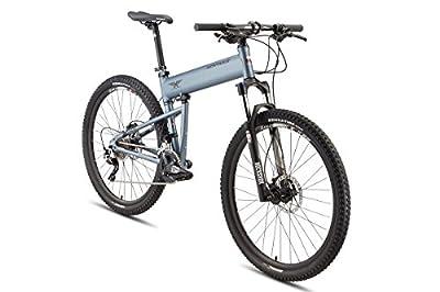 Montague Paratrooper Highline, Matte Grey, 20 Speed Folding Mountain Bike- New Model