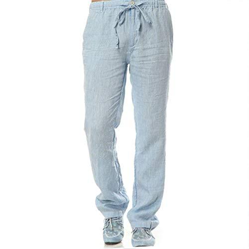 Pantalon Bandage Homme Mode Pour Sportswear Hellblau Couleur Avec Poches Saoye Solid R7PZRrnO