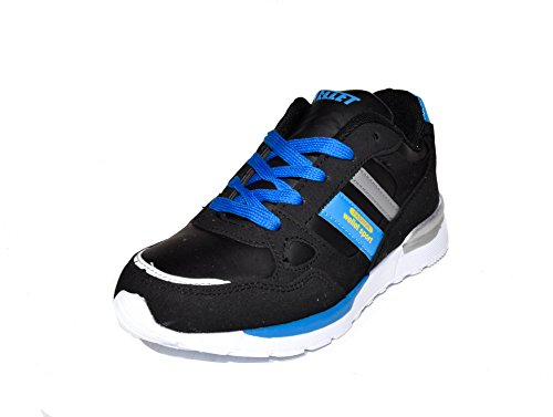 BTS - Zapatillas de Piel para niño 36 Varios Colores - Schwarz/ Blau