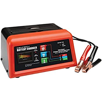 Amazon Com Cen Tech 60581 Manual Car Battery Charger With