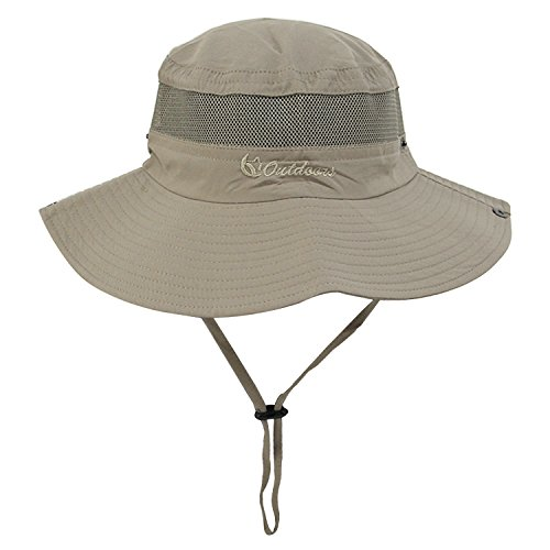 Fishing Hat and Sun Hat for Men/Women Safari Cap with Sun Protection Unisex Bucket Outdoor Boonie Hat Camel