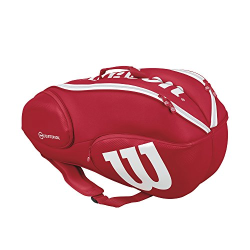 Wilson Pro Staff Tennis Bag - Red /White,9 Pack