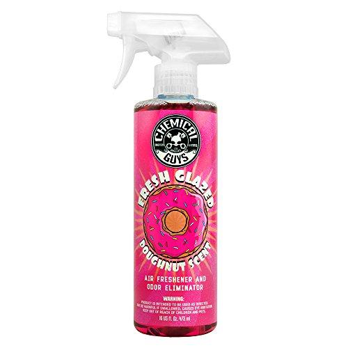 - Chemical Guys AIR23316 Fresh Glazed Doughnut Scent Premium Air Freshener and Odor Eliminator (16 oz), 16. Fluid_Ounces