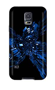 Galaxy S5 Case, Premium Protective Case With Awesome Look - Abstract Blue