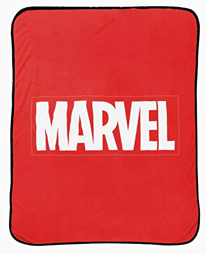 - Jay Franco Marvel Logo Throw Blanket - Measures 46 x 60 inches, Kids Bedding - Fade Resistant Super Soft (Official Marvel Product)