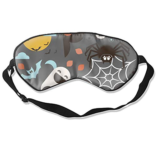 Soft Comfortable Eye Mask, Halloween Theme 3D Sleep Mask with Adjustable Strap for Woman Man Eyes Sleeping Travel Nap ()