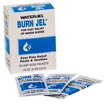 Burn Jel 100% Water Soluble Sterile 3.5 g 1/8 oz. 6 Boxes (150 Packs) by Waterjel - MS46285