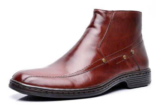 Opananken Mens All Day Relax Bergamo Vegetable Tanned Sheep Leather Boot Coffee