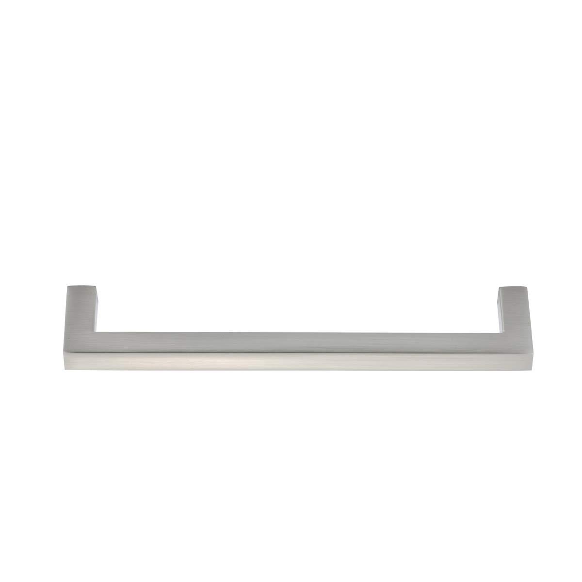 7,8 cm de longitud Basics lat/ón cepillado 3,2 cm centro del agujero 10 unidades Tirador de dedo moderno
