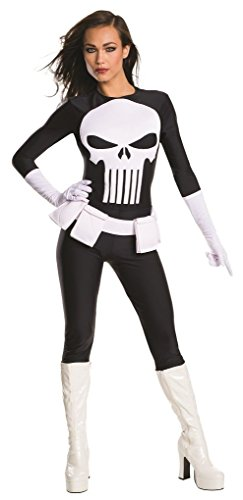 Female Marvel Punisher Costume - Lynn Michaels - Xtra Small