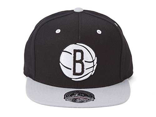Mitchell & Ness Brooklyn Nets 2-Tone Fitted Baseball Cap - 7 1/2