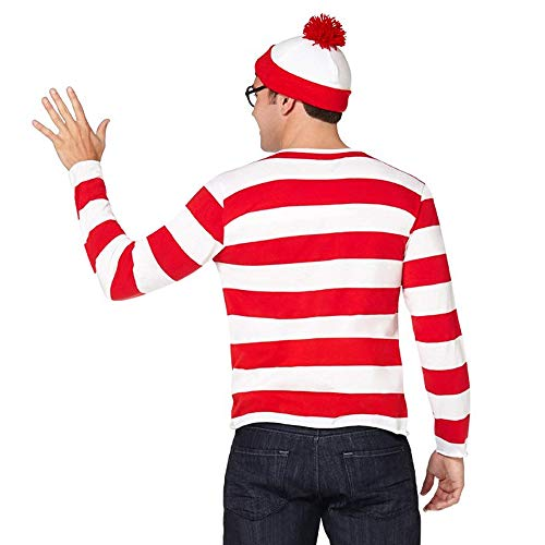 wodceeke Where's Waldo Costume Set, Adult Mens Funny