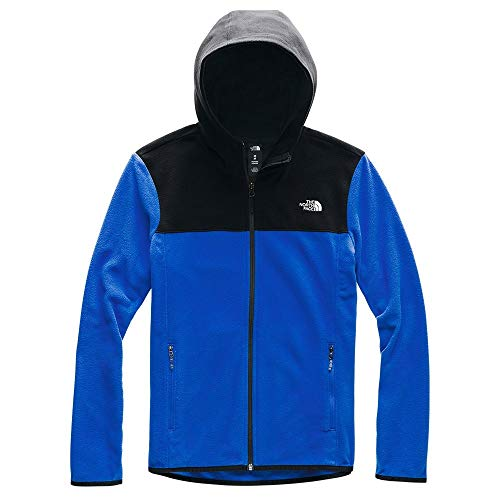 The North Face Women's TKA Glacier Full Zip Hoodie, TNF Blue/TNF Black, S (North Face Womens Indi Fleece Hoodie Jacket)