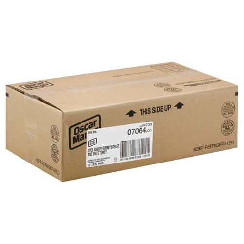 - Oscar Mayer Turkey Breast and White Meat Oven Roasted, 8 Ounce -- 12 per case.